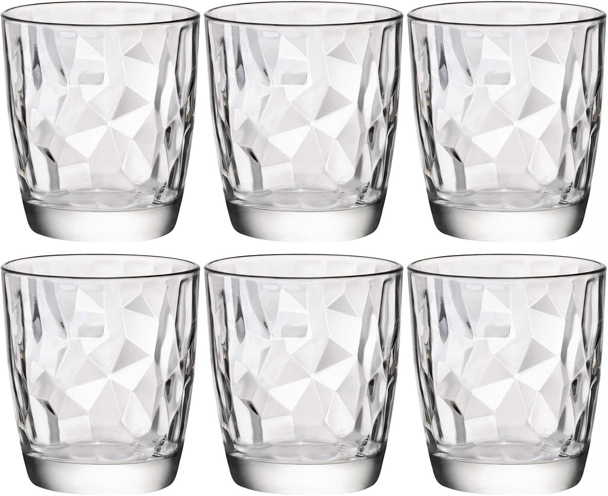 Набор стаканов Bormioli Rocco Даймонд Аква, 6 шт350200M02321990Набор Bormioli Rocco Даймонд Аква, выполненный из стекла, состоит из 6 стаканов и предназначен для подачи холодных напитков. С внутренней стороны поверхность стаканов рельефная, что создает эффект игры и преломления.Стаканы Bormioli Rocco Даймонд Аква станут идеальным украшением праздничного стола и отличным подарком к любому празднику. Объем стакана: 300 мл.
