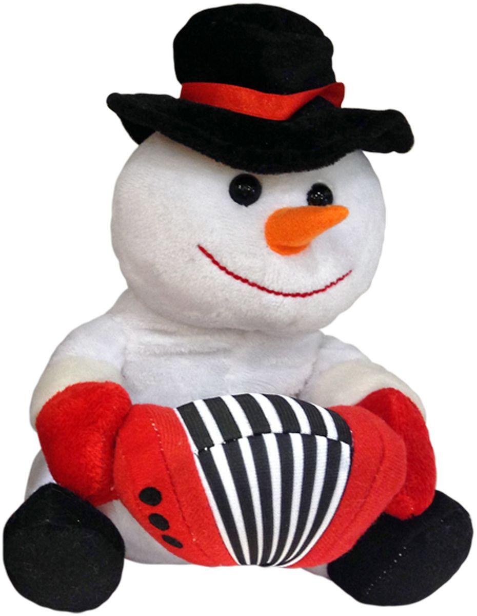 Lapa House Мягкая озвученная игрушка Снеговик с гармонью 21 см мягкая игрушка арти м 29 см снеговик 861 002