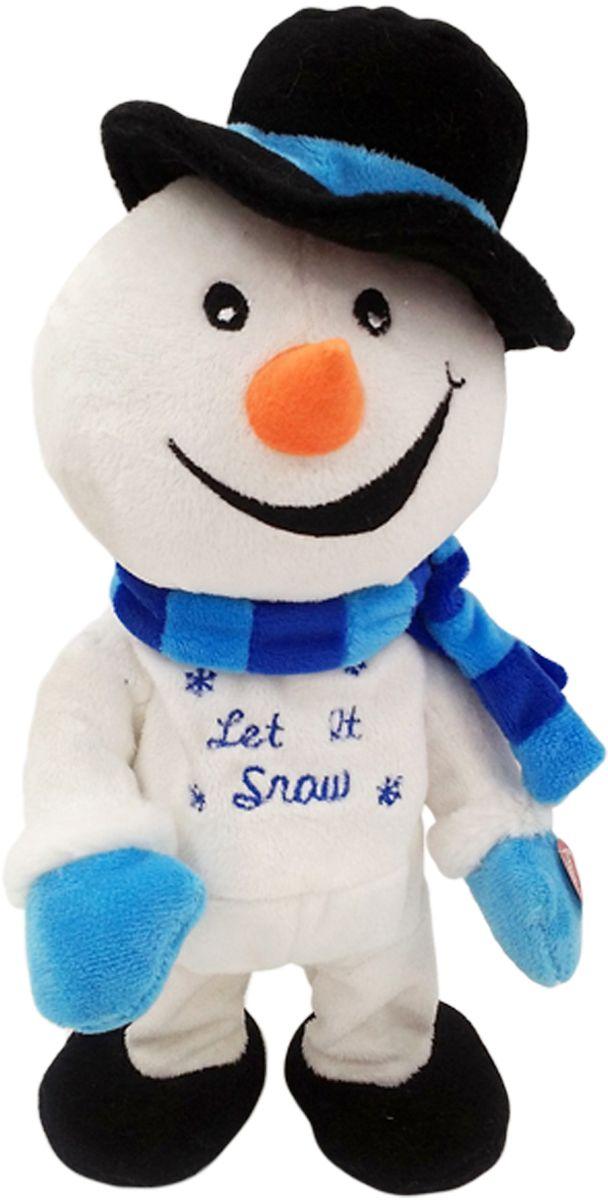 Lapa House Мягкая озвученная игрушка Снеговик Тришка 32 см мягкая игрушка арти м 29 см снеговик 861 002
