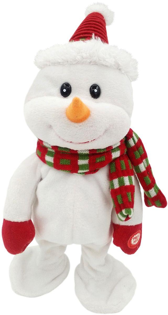 Lapa House Мягкая озвученная игрушка Снеговик Том 28 см мягкая игрушка арти м 29 см снеговик 861 002