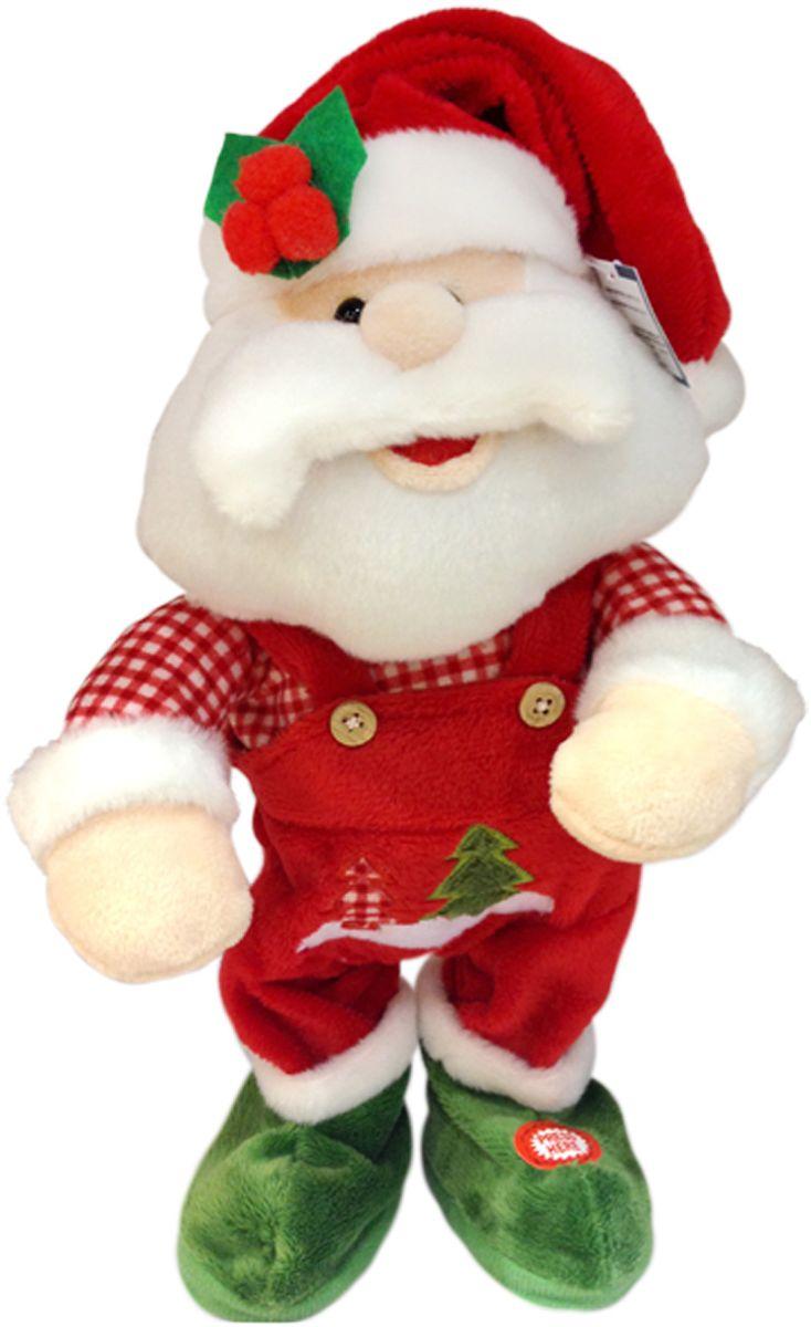 Lapa House Мягкая озвученная игрушка Санта 32 см