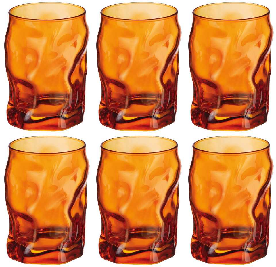 Набор стаканов Bormioli Rocco Сордженте, цвет: оранжевый, 6 шт. 340420MP1321590340420MP1321590