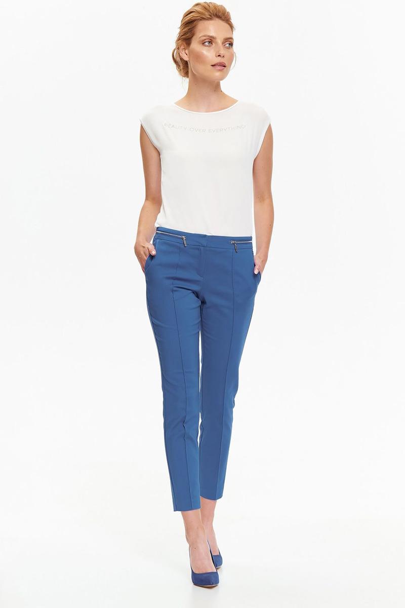 Блузка женская Top Secret, цвет: белый. SBK2264BI. Размер 40 (48)SBK2264BIЖенская блузка Top Secret выполнена из натуральной вискозы. Модель с круглым вырезом горловины и короткими цельнокроеными рукавами.
