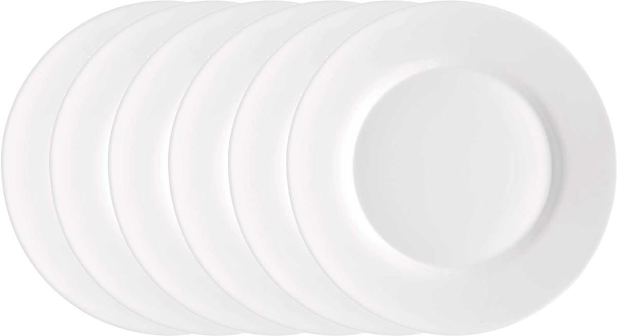 Набор тарелок Bormioli Rocco Толедо Динер, цвет: белый, 24 см, 6 шт. 400810FN9321990400810FN9321990