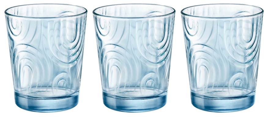 Набор стаканов Bormioli Rocco Арчес Вода , цвет: голубой, 3 шт. 530325Q02321990530325Q02321990