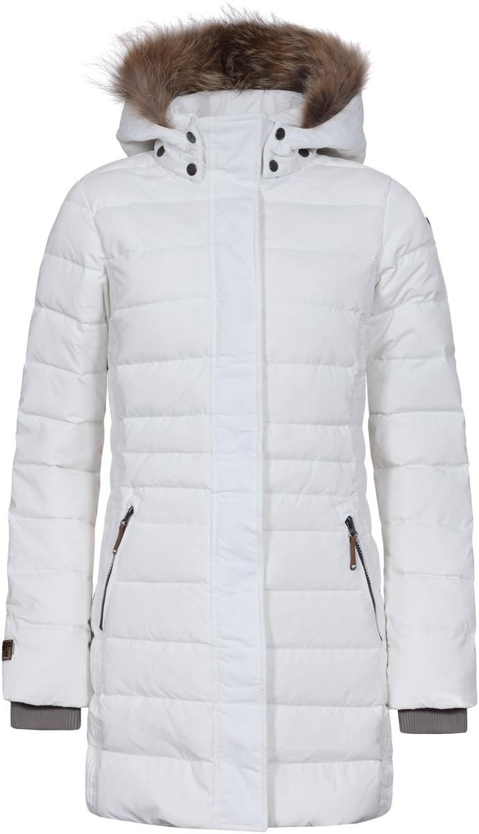 цены Пуховик женский Icepeak, цвет: белый. 853051520IVA_010. Размер 40 (46)