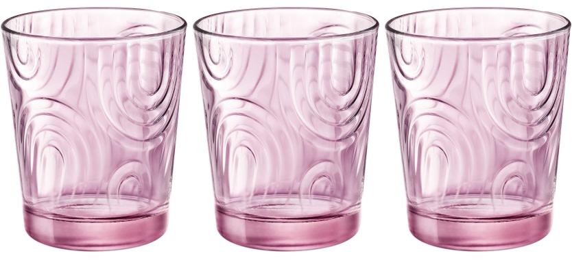 Набор стаканов Bormioli Rocco Арчес Вода , цвет: розовый, 3 шт. 530324Q02321990
