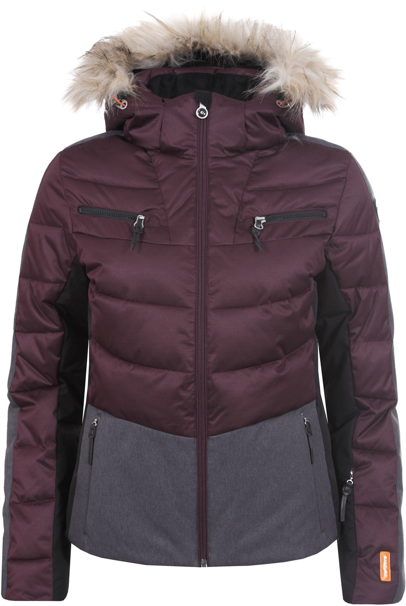 Куртка женская Icepeak, цвет: красный. 853205512IV_685. Размер 36 (42)853205512IV_685Куртка женская Icepeak выполнена из полиэстера. Модель с длинными рукавами и капюшоном застегивается на застежку-молнию.