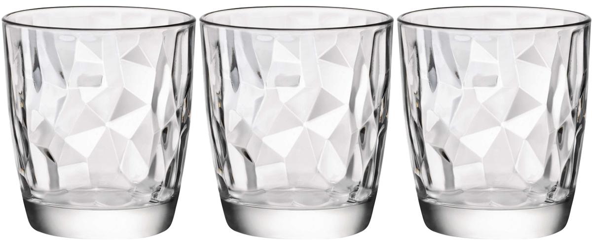 Набор стаканов Bormioli Rocco Даймонд , цвет: прозрачный, 3 шт. 302260Q02021990302260Q02021990