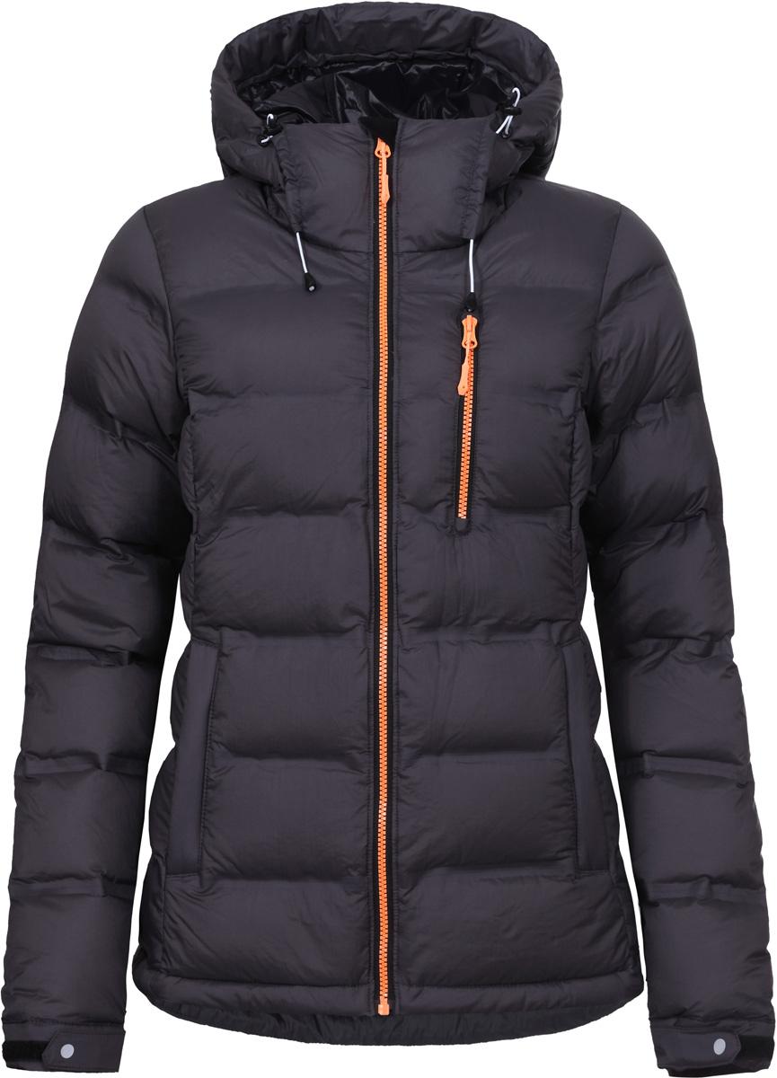 Куртка женская Icepeak, цвет: серый. 853195660IV_260. Размер 42 (48)853195660IV_260Куртка женская Icepeak выполнена из полиамида. Модель с длинными рукавами и капюшоном застегивается на застежку-молнию.