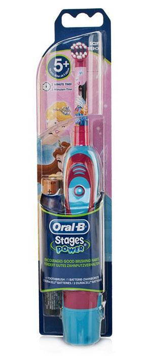 Braun Oral-B Stages Power DB4.010 детская электрическая зубная щеткаDB4010(DB4.510)_белоснежкаДетская электрическая зубная щетка Braun DB4010 (DB4.510) обладает очень мягкими, расщепленными на концах щетинками, которые гарантируют очень бережную чистку зубов ребенка, а также массаж его нежных десен.Индикатор заряда батареи:Детская электрическая зубная щетка Braun Disney Princess DB4010 (DB4.510) оснащена удобным световым индикатором заряда батареи. Специальный дизайн:Детская электрическая зубная щетка Braun Disney Princess DB4010 (DB4.510) выполнена в специальном красочном дизайне, который невероятно привлекателен для каждого современного ребенка.