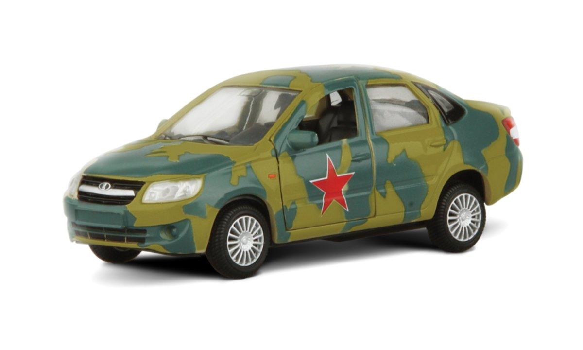 Autotime Модель автомобиля Lada Granta Армейская autotime модель автомобиля uaz 39625 мчс россии