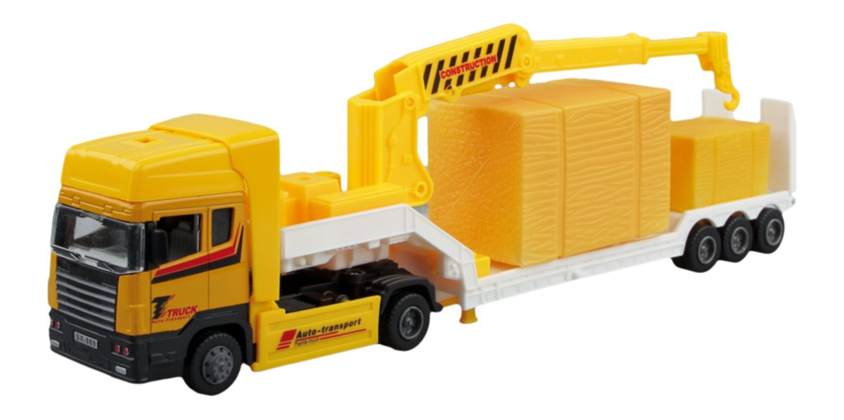 Autotime Машинка с краном Truck Crane autotime набор машинок recovery truck long эвакуатор с прицепом