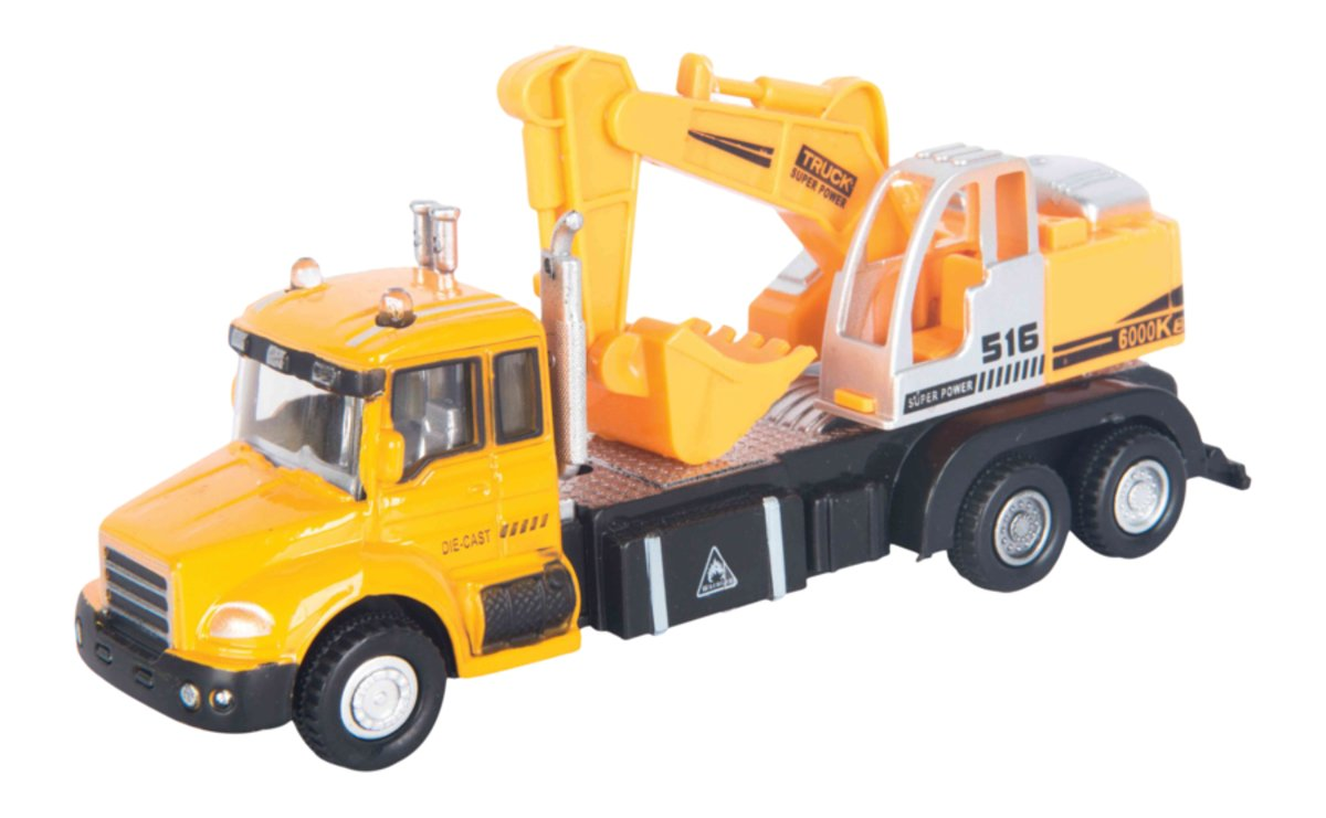 Autotime Машинка с экскаватором Excavator Truck autotime набор машинок recovery truck long эвакуатор с прицепом
