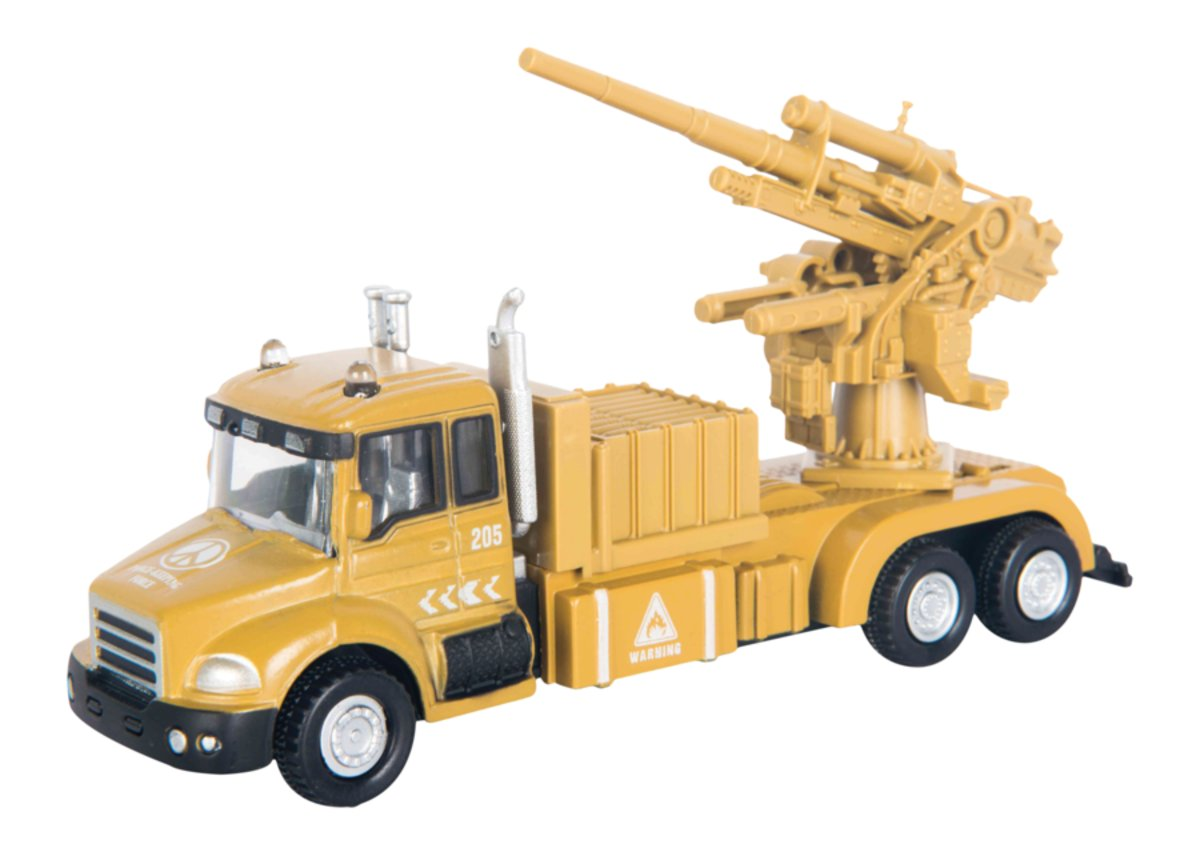 Autotime Машинка с орудием Military Gun Truck autotime машинка junior motors military sahara allroad