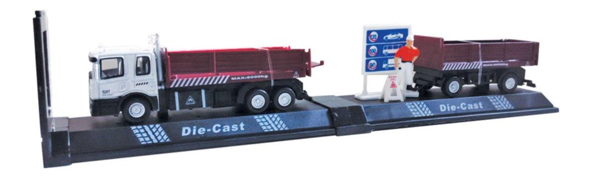 Autotime Машинка с прицепом Roadside Truck Set бортовой грузовик autotime с тентом маз 516 в ассорт