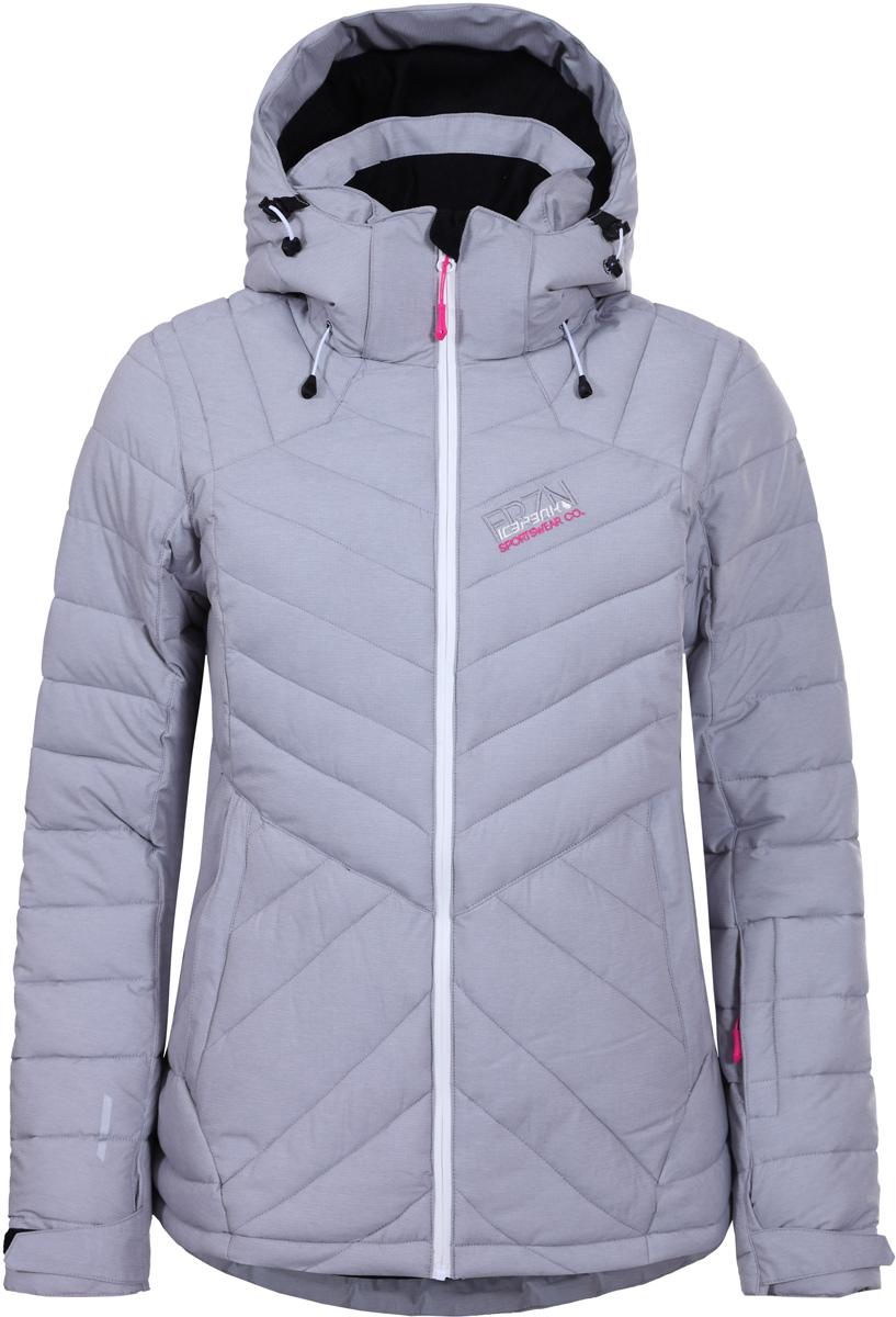 Куртка женская Icepeak, цвет: серый. 853234661IV_810. Размер 34 (40)853234661IV_810Куртка женская Icepeak выполнена из полиэстера. Модель с длинными рукавами и капюшоном застегивается на застежку-молнию.