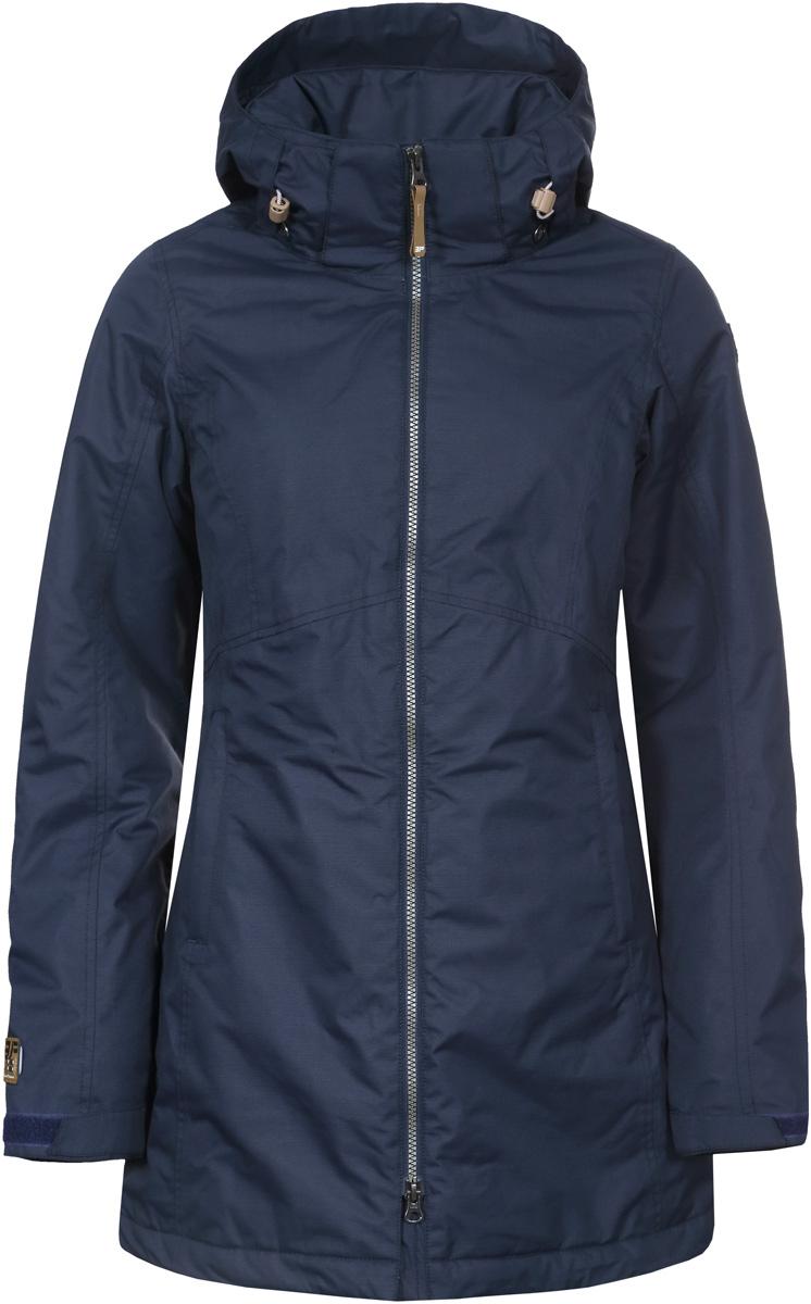 Куртка женская Icepeak, цвет: синий. 853037519IV_390. Размер 34 (40)853037519IV_390Куртка женская Icepeak выполнена из полиэстера. Модель с длинными рукавами и капюшоном застегивается на застежку-молнию.