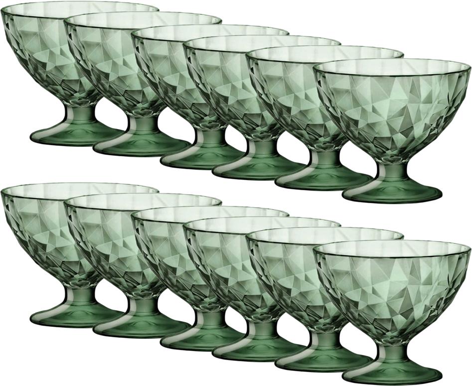 Набор креманок Bormioli Rocco Даймонд Десерт, цвет: зеленый, 12 шт. 302255M04321990302255M04321990