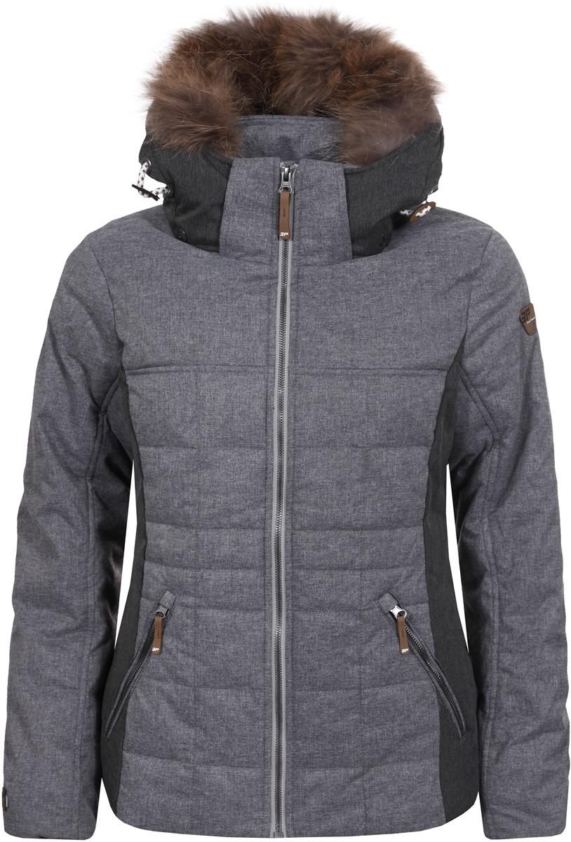 Куртка женская Icepeak, цвет: темно-серый. 853045562IV_817. Размер 34 (40)853045562IV_817Куртка женская Icepeak выполнена из полиэстера. Модель с длинными рукавами и капюшоном застегивается на застежку-молнию.