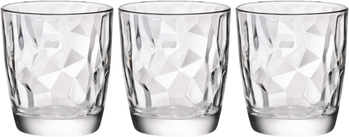 Набор стаканов Bormioli Rocco Даймонд Вода , цвет: прозрачный, 3 шт. 350200Q02021990350200Q02021990