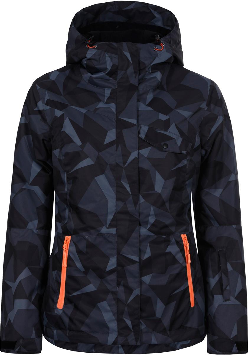 Куртка женская Icepeak, цвет: темно-серый. 853226571IV_260. Размер 38 (44) куртка женская icepeak цвет фуксия 853115523ivx 750 размер 38 44