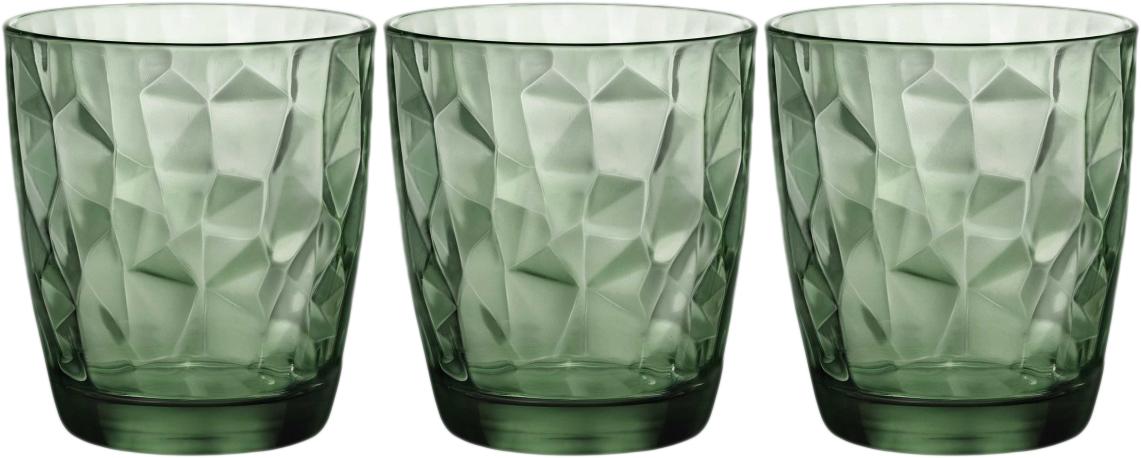 Набор стаканов Bormioli Rocco Даймонд Вода , цвет: зеленый, 3 шт. 350210Q02021990