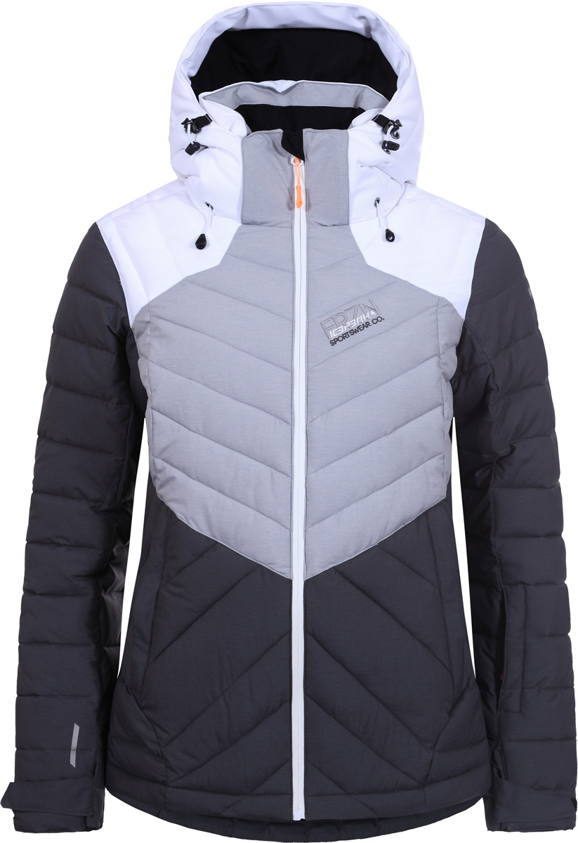 Куртка женская Icepeak, цвет: темно-серый. 853234661IV_998. Размер 34 (40)853234661IV_998Куртка женская Icepeak выполнена из полиэстера. Модель с длинными рукавами и капюшоном застегивается на застежку-молнию.