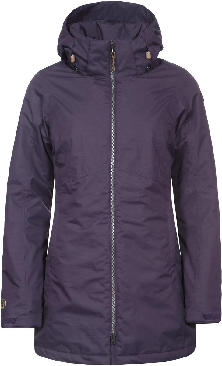 Куртка женская Icepeak, цвет: фиолетовый. 853037519IV_790. Размер 36 (42)853037519IV_790Куртка женская Icepeak выполнена из полиэстера. Модель с длинными рукавами и капюшоном застегивается на застежку-молнию.