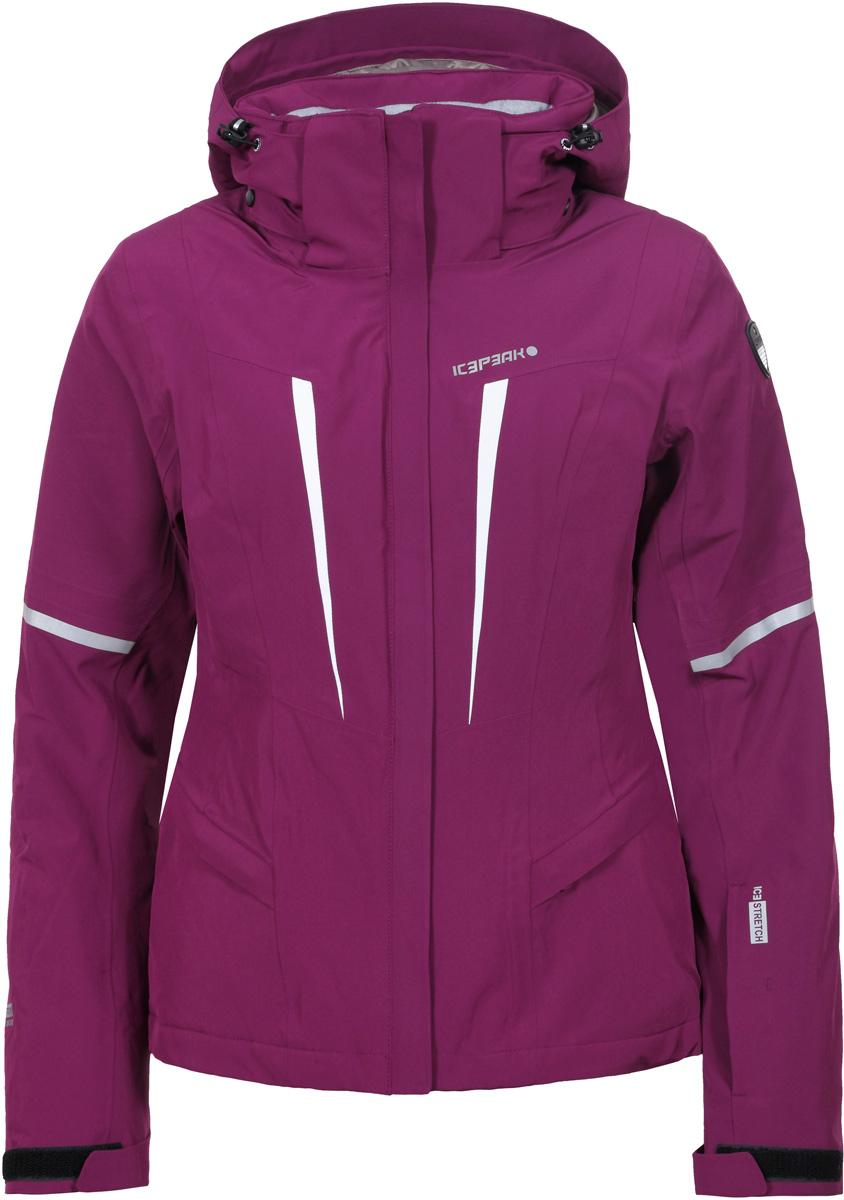 Куртка женская Icepeak, цвет: фиолетовый. 853108535IV_750. Размер 42 (48)853108535IV_750