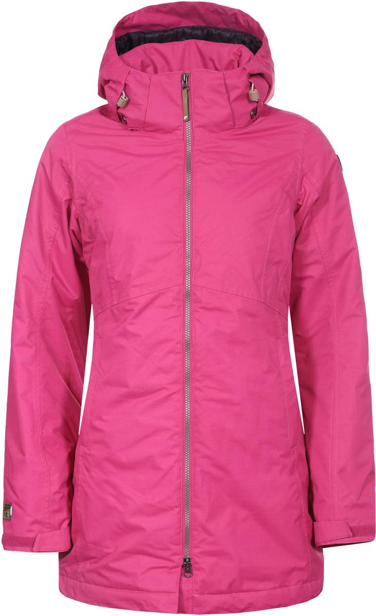 Куртка женская Icepeak, цвет: фуксия. 853037519IV_664. Размер 40 (46)853037519IV_664Куртка женская Icepeak выполнена из полиэстера. Модель с длинными рукавами и капюшоном застегивается на застежку-молнию.