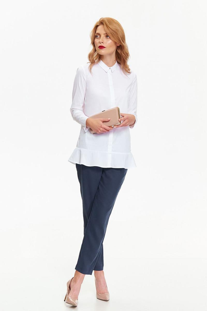 Фото Рубашка женская Top Secret, цвет: белый. SKL2407BI. Размер 34 (42)