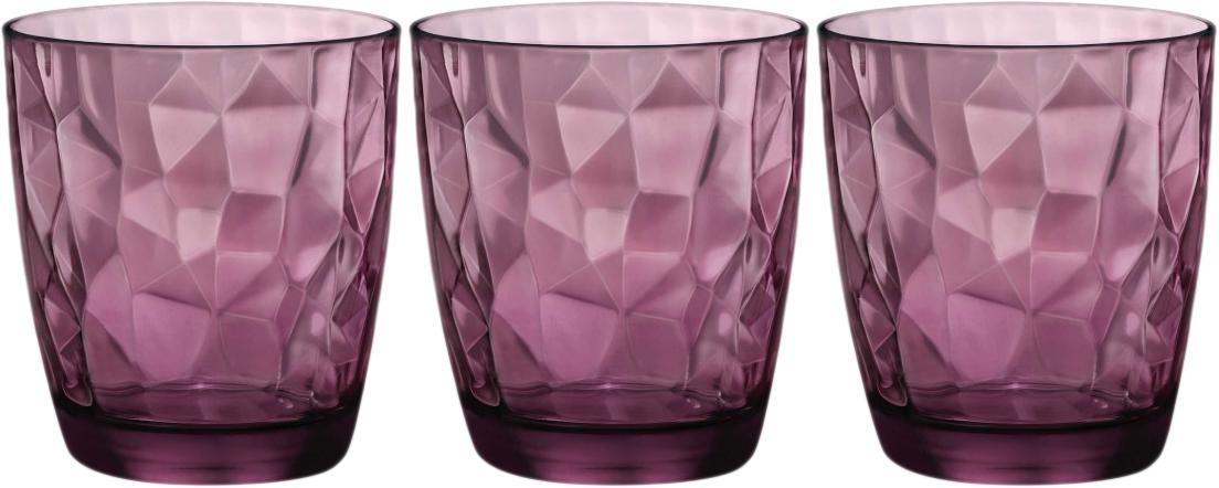 Набор стаканов Bormioli Rocco Даймонд Вода , цвет: фиолетовый, 3 шт. 350230Q02021990350230Q02021990
