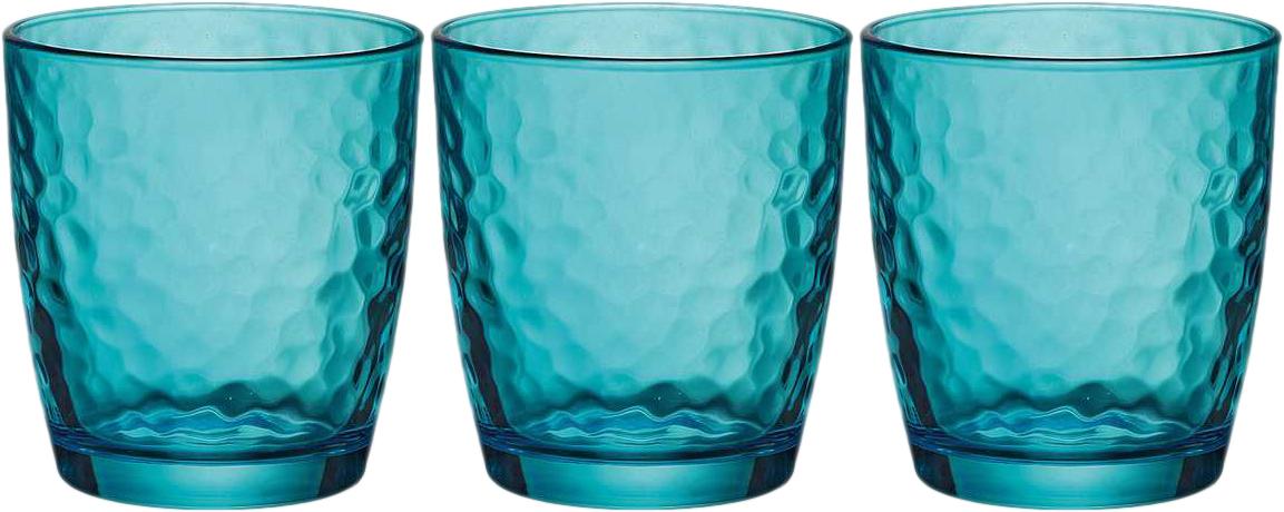 Набор стаканов Bormioli Rocco Палатина, цвет: голубой, 3 шт. 662570Q02021588662570Q02021588