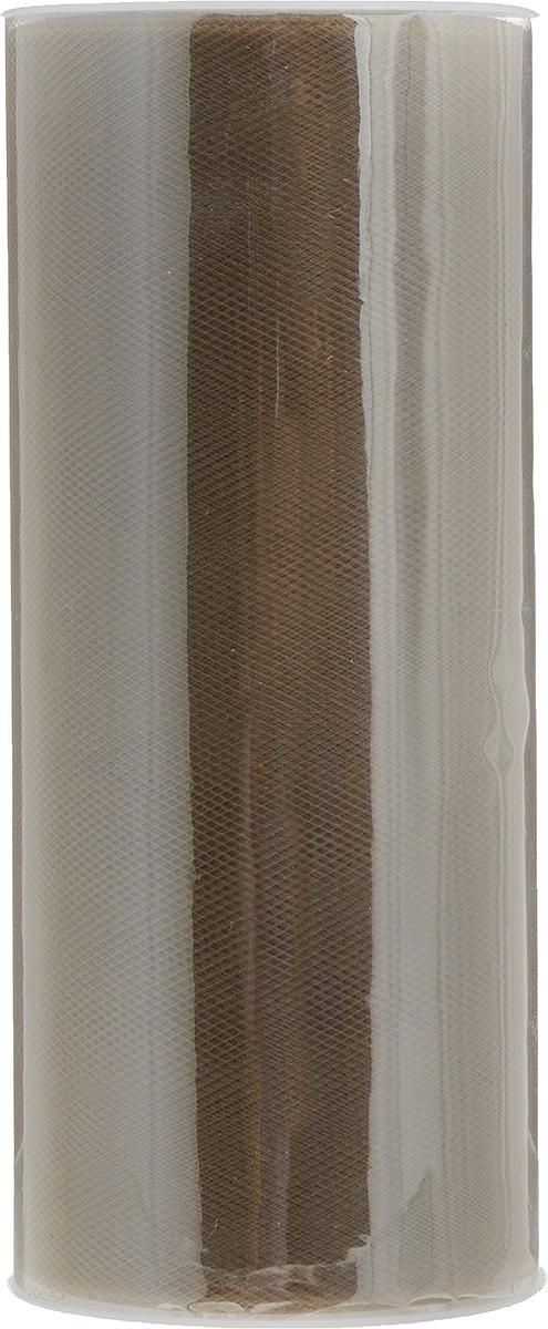 Фатин Ideal, средней жесткости, цвет: темно-коричневый (39), ширина 15 см, длина 22,86 мTBY.MS.200.39Фатин Ideal в шпульке незаменим для творчества и рукоделия. Данный вид фатина активно используется при декоре помещения. Из-за удобной ширины (150 мм) можно без лишних движений (не разрезая) делать красивые банты для украшения автомобилей, мебели и помещений. Также фатин в шпульке использует во флористике для декора букетов и упаковки подарков. Помимо вышесказанного, фатин данной фасовки и ширины активно используется швейниками для пошива детских юбок, платьев, декора одежды и головных уборов.ру