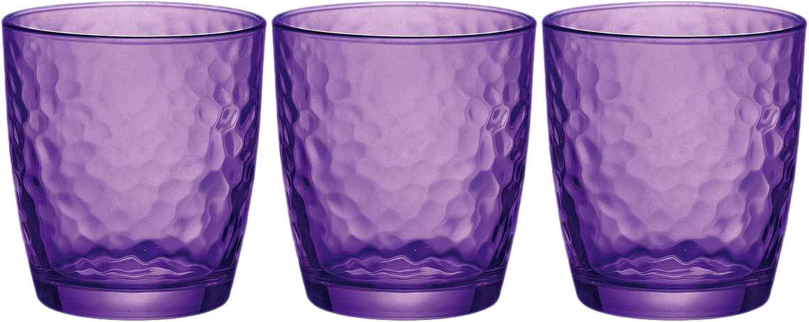Набор стаканов Bormioli Rocco Палатина, цвет: фиолетовый, 3 шт. 662570Q02021592662570Q02021592