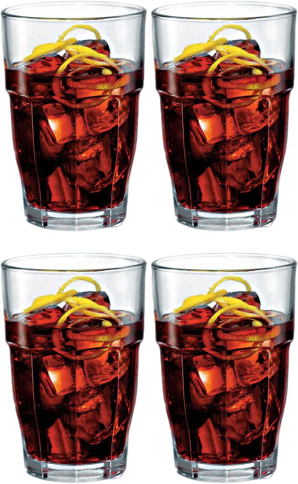 Набор стаканов Bormioli Rocco Рок Бар Лонг Дринк, цвет: прозрачный, 4 шт. 516170C09821990516170C09821990
