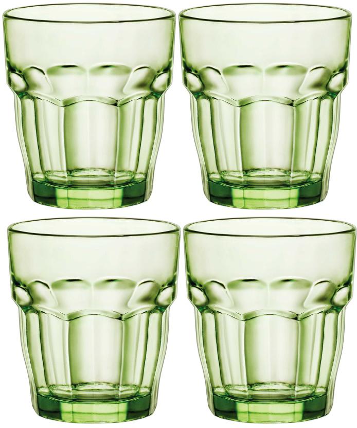 Набор стаканов Bormioli Rocco Рок Бар Лаундж , цвет: зеленый, 4 шт. 418930C09821990418930C09821990