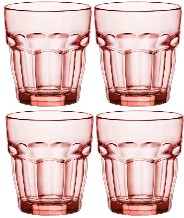 Набор стаканов Bormioli Rocco Рок Бар Лаундж , цвет: розовый, 4 шт. 418950C09821990418950C09821990