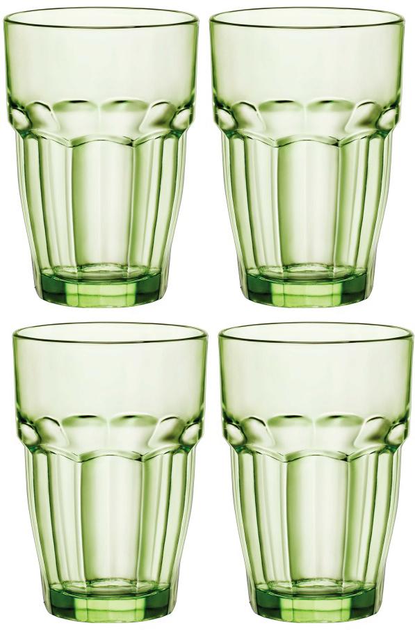 Набор стаканов Bormioli Rocco Рок Бар Лаундж , цвет: зеленый, 4 шт. 418960C09821990418960C09821990