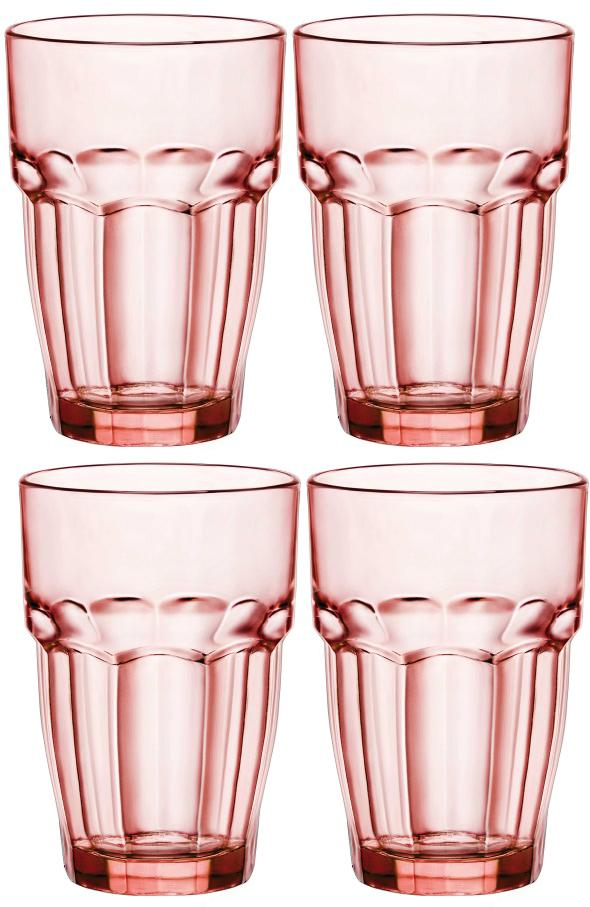 Набор стаканов Bormioli Rocco Рок Бар Лаундж , цвет: розовый, 4 шт. 418980C09821990418980C09821990