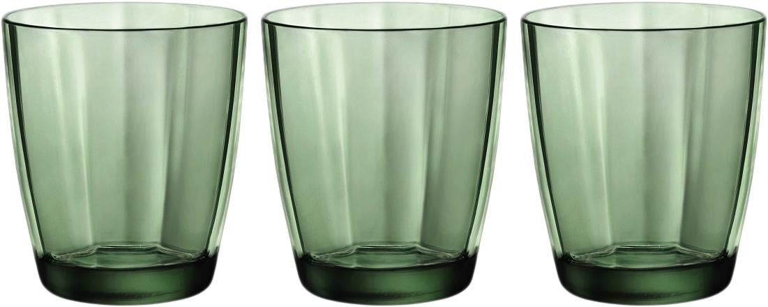 Набор стаканов Bormioli Rocco Пульсар Вода, цвет: зеленый, 3 шт. 360610Q02021990360610Q02021990