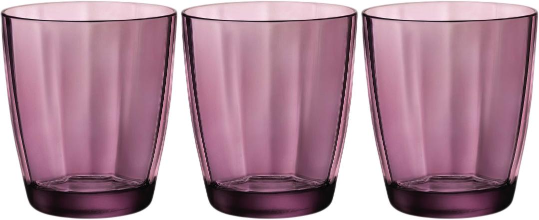 Набор стаканов Bormioli Rocco Пульсар Вода, цвет: фиолетовый, 3 шт. 360630Q02021990360630Q02021990