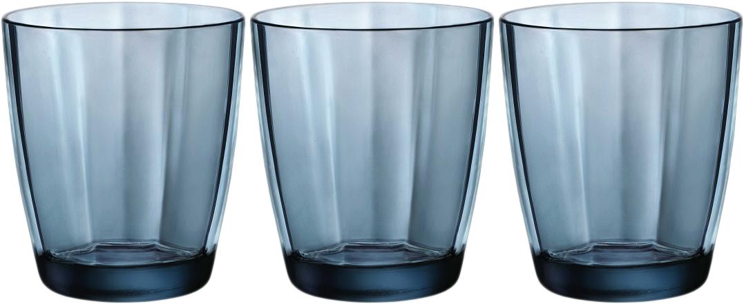 Набор стаканов Bormioli Rocco Пульсар Вода, цвет: голубой, 3 шт. 360620Q02021990360620Q02021990