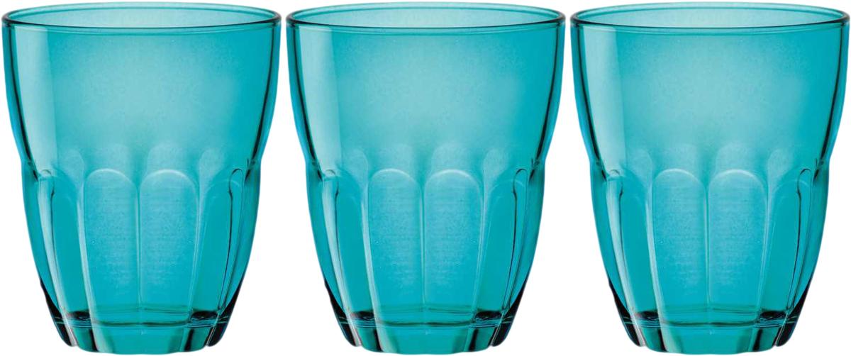 Набор стаканов Bormioli Rocco Эрколе , цвет: голубой, 3 шт. 387140C04021588387140C04021588