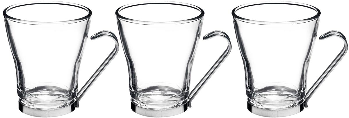 Набор чашек Bormioli Rocco Осло Капучино , цвет: прозрачный, 3 шт. 442100Q02021990442100Q02021990