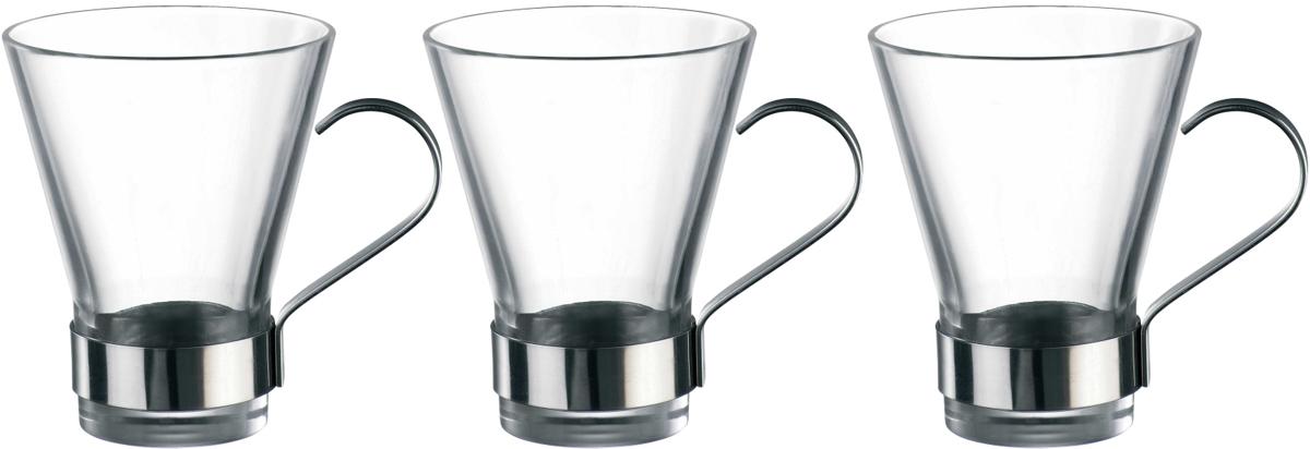 Набор чашек Bormioli Rocco Ипсилон Чай , цвет: прозрачный, 3 шт. 340340QN1021990340340QN1021990