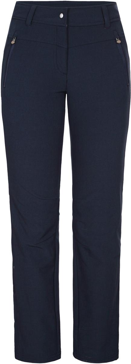 Брюки женские Icepeak, цвет: темно-синий. 854200685IV_390. Размер 40 (46)854200685IV_390Женские брюки от Icepeak выполнены из эластичного полиэстера. Модель застегивается на кнопку в талии и ширинку на молнии, имеются шлевки для ремня.