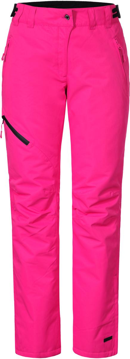 Брюки женские Icepeak, цвет: фуксия. 854090659IV_661. Размер 40 (46)854090659IV_661Женские брюки от Icepeak выполнены из полиэстера. Модель застегивается на пуговицу в талии и ширинку на молнии, имеются шлевки для ремня.
