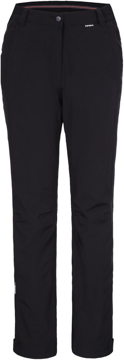 Брюки женские Icepeak, цвет: черный. 854133535IV_990. Размер 38 (44)854133535IV_990Женские брюки от Icepeak выполнены из эластичного полиэстера. Модель застегивается на пуговицу в талии и ширинку на молнии, имеются шлевки для ремня.